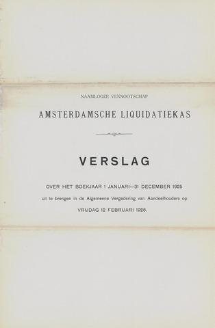 Amsterdamsche Liquidatiekas - Amsterdamsche Goederenbank 1925