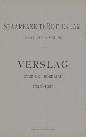 Spaarbank te Rotterdam 1920