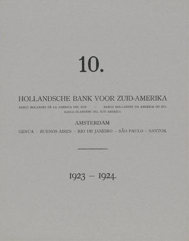 Hollandsche Bank voor Zuid-Amerika 1923