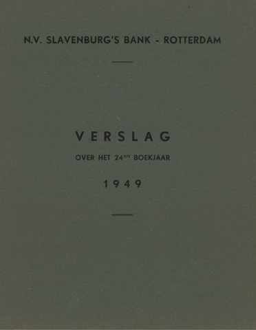 Slavenburg's Bank 1949