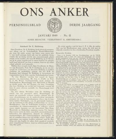 Nederlandsche Handel-Maatschappij - Ons Anker 1949