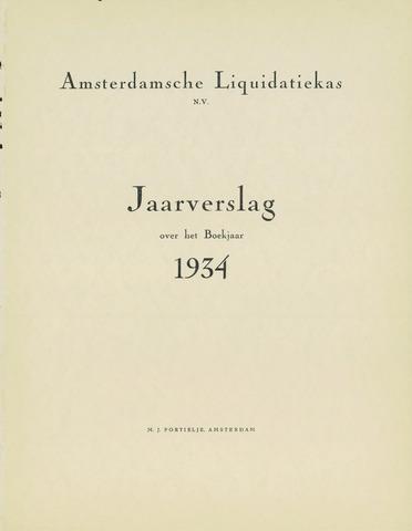 Amsterdamsche Liquidatiekas - Amsterdamsche Goederenbank 1934