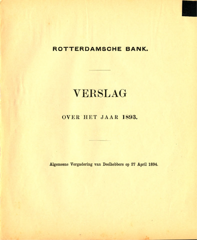 Rotterdamsche Bank 1893