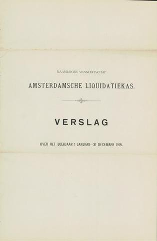 Amsterdamsche Liquidatiekas - Amsterdamsche Goederenbank 1915