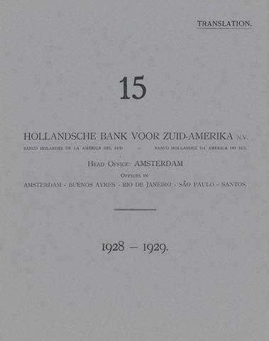 Hollandsche Bank voor Zuid-Amerika 1928