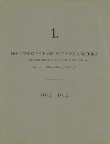 Hollandsche Bank voor Zuid-Amerika 1914