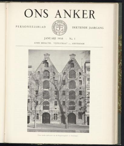 Nederlandsche Handel-Maatschappij - Ons Anker 1958
