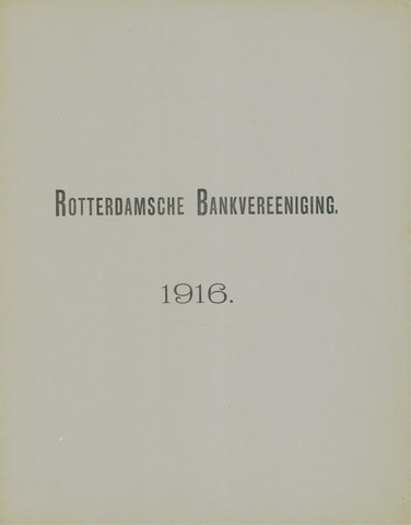 Rotterdamsche Bank 1916