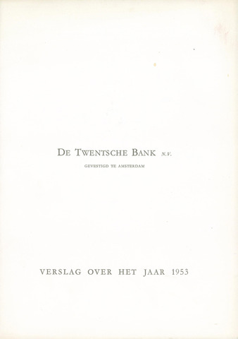 Twentsche Bank 1953