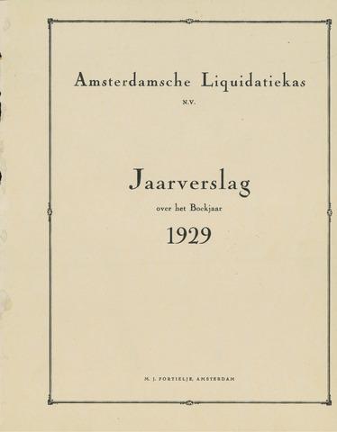 Amsterdamsche Liquidatiekas - Amsterdamsche Goederenbank 1929-01-01