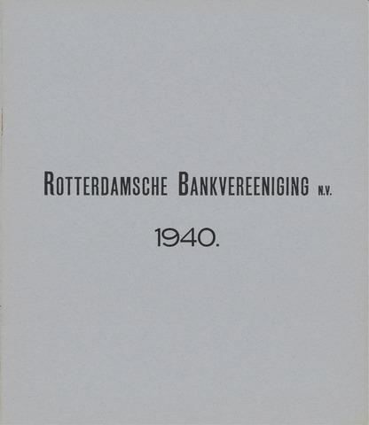 Rotterdamsche Bank 1940