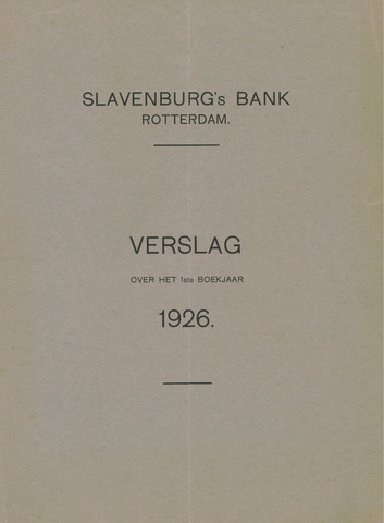 Slavenburg's Bank 1926