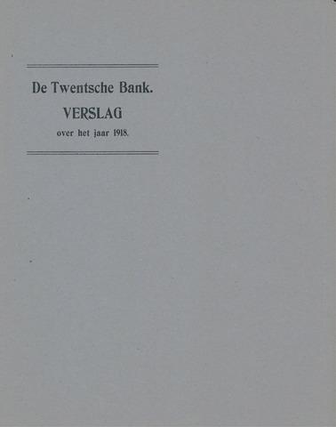 Twentsche Bank 1918