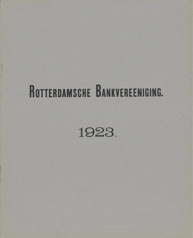 Rotterdamsche Bank 1923