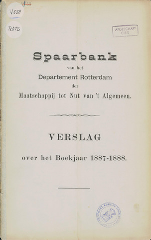 Spaarbank te Rotterdam 1887