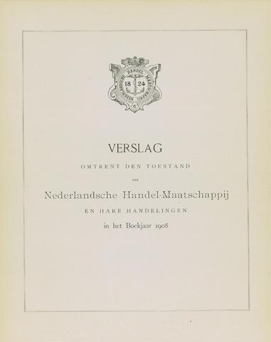 Nederlandsche Handel-Maatschappij 1908