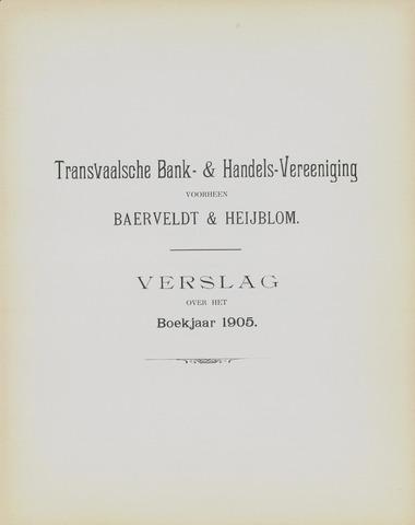 Transvaalsche Bank- en Handelsvereeniging 1905