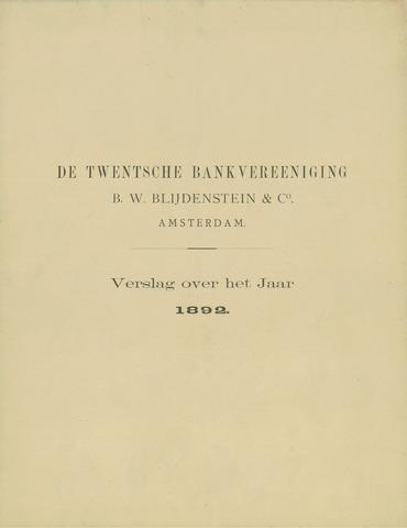 Twentsche Bank 1892