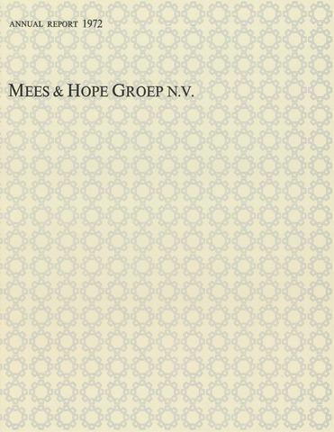 Mees & Hope Groep 1972