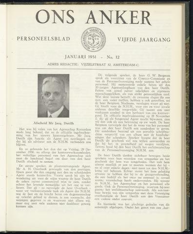 Nederlandsche Handel-Maatschappij - Ons Anker 1951