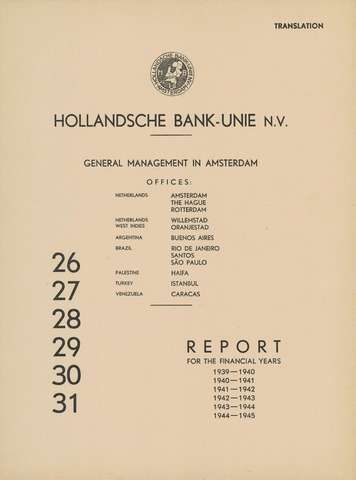 Hollandsche Bank-Unie 1939
