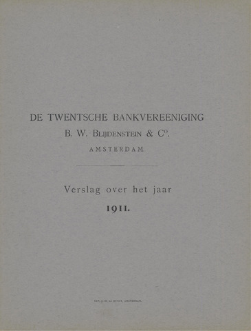 Twentsche Bank 1911