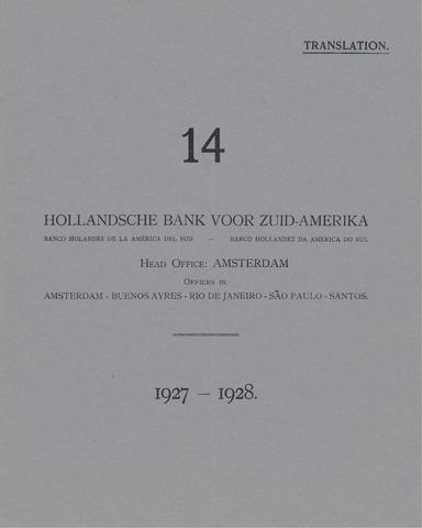 Hollandsche Bank voor Zuid-Amerika 1927