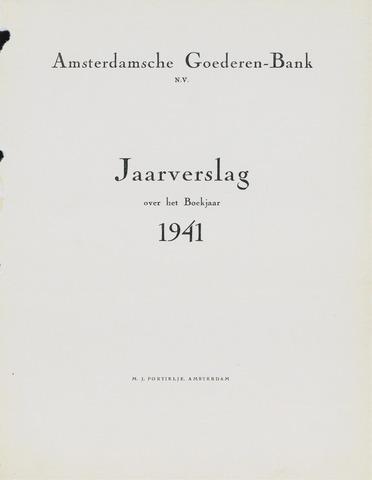 Amsterdamsche Liquidatiekas - Amsterdamsche Goederenbank 1941