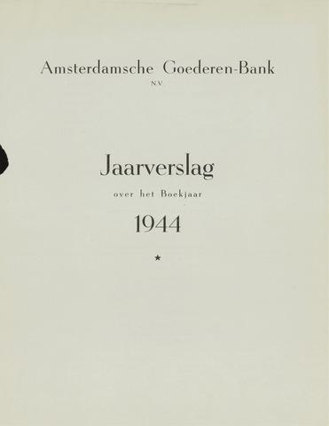 Amsterdamsche Liquidatiekas - Amsterdamsche Goederenbank 1944-01-01