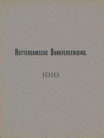 Rotterdamsche Bank 1919