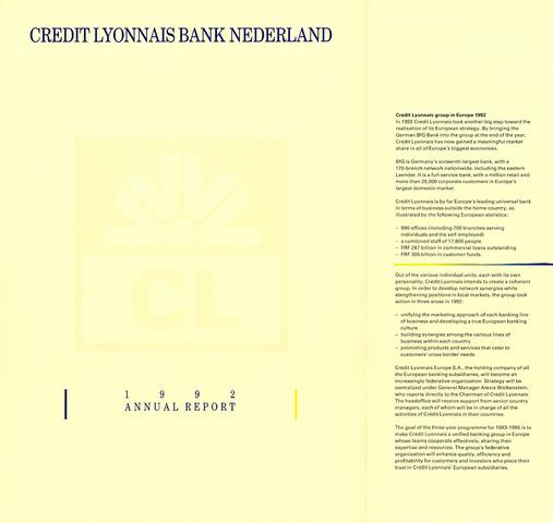 Credit Lyonnais Bank Nederland 1992