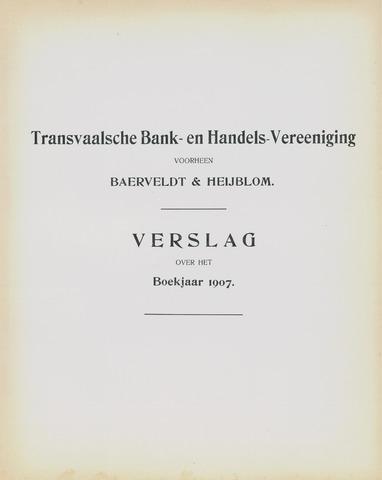 Transvaalsche Bank- en Handelsvereeniging 1907