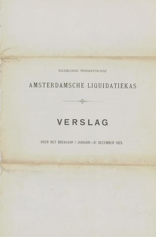 Amsterdamsche Liquidatiekas - Amsterdamsche Goederenbank 1923