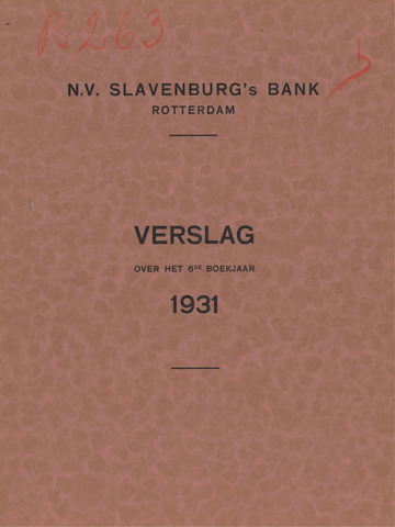Slavenburg's Bank 1931