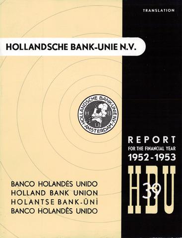 Hollandsche Bank-Unie 1952