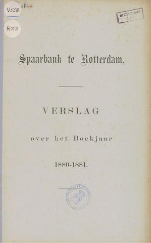 Spaarbank te Rotterdam 1880