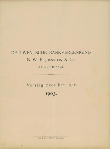 Twentsche Bank 1903