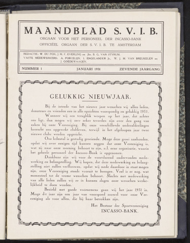 Incasso-Bank - Maandblad SVIB 1931