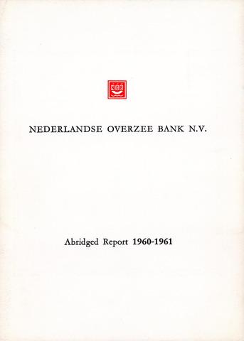 Nederlandse Overzee Bank 1960