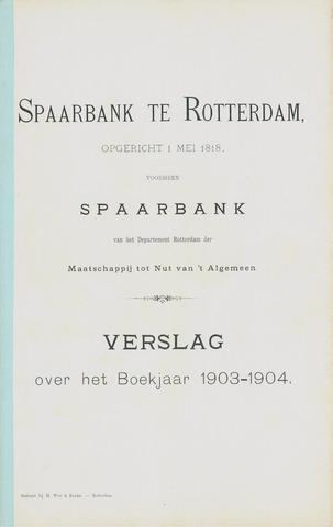 Spaarbank te Rotterdam 1903