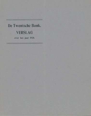 Twentsche Bank 1920