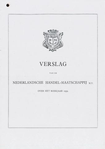 Nederlandsche Handel-Maatschappij 1939