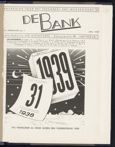 Incasso-Bank - De Bank 1939