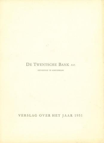 Twentsche Bank 1951