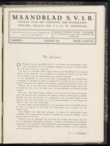 Incasso-Bank - Maandblad SVIB 1930