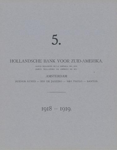Hollandsche Bank voor Zuid-Amerika 1918