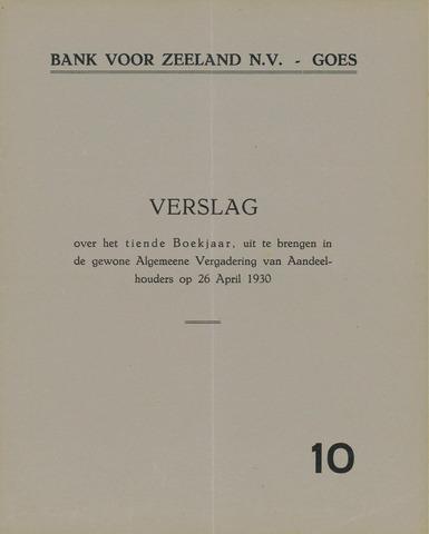 Bank voor Zeeland 1929