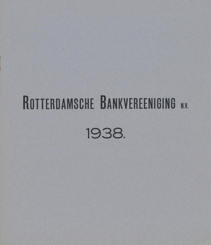 Rotterdamsche Bank 1938