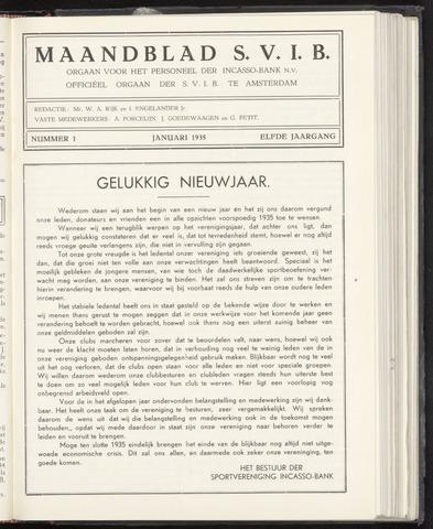 Incasso-Bank - Maandblad SVIB 1935