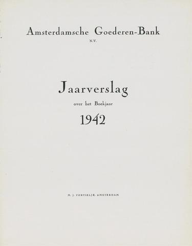 Amsterdamsche Liquidatiekas - Amsterdamsche Goederenbank 1942
